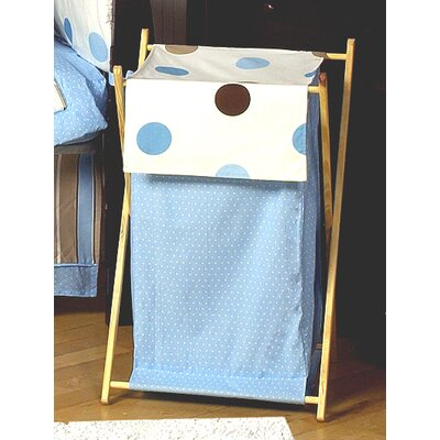 Mod Dots Blue Laundry Hamper