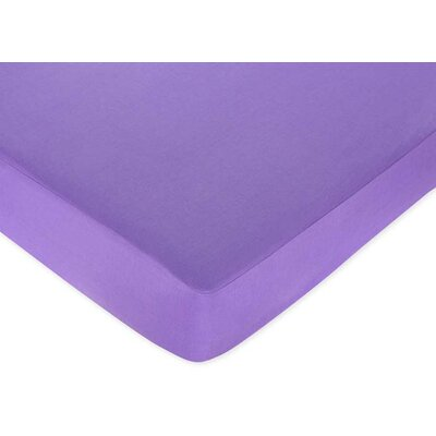 Sweet Jojo Designs Purple Fitted Crib Sheet