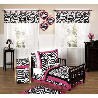 Sweet Jojo Designs Funky Zebra Toddler Bedding Collection 5 Piece Set