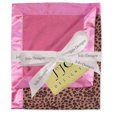 Sweet Jojo Designs Cheetah Pink Collection Baby Blanket