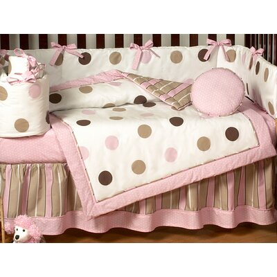 Mod Dots Pink Collection Toddler Bed Skirt