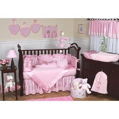 Sweet Jojo Designs Pink Chenille and Satin Crib Bedding Collection