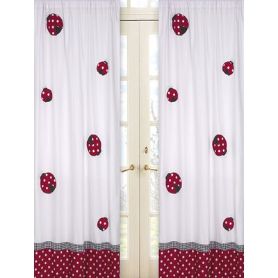 Sweet Jojo Designs Little Ladybug Cotton Curtain Panel  (Set of 2)