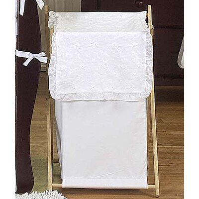 Eyelet White Laundry Hamper
