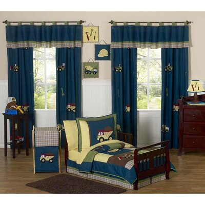 Sweet Jojo Designs Construction Zone Toddler Bedding Collection 5 Piece Set