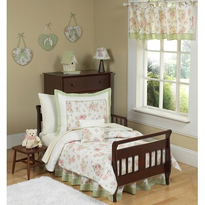 "Sweet Jojo Designs Riley""s Roses Toddler Bedding Collection 5 Piece Set"
