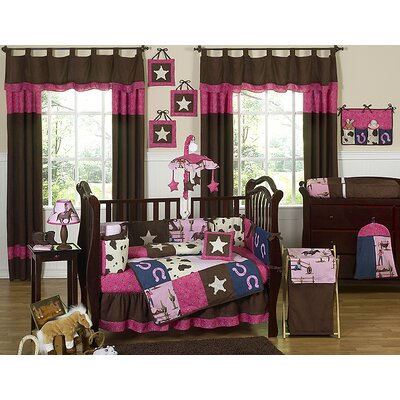 Sweet Jojo Designs Cowgirl Collection 9pc Crib Bedding Set