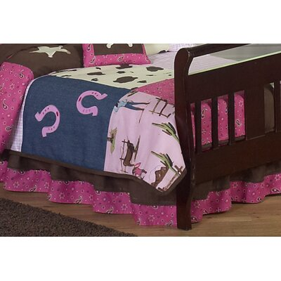 Sweet Jojo Designs Cowgirl Collection Toddler Bed Skirt