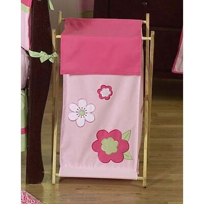 Sweet Jojo Designs Flower Pink and Green Laundry Hamper