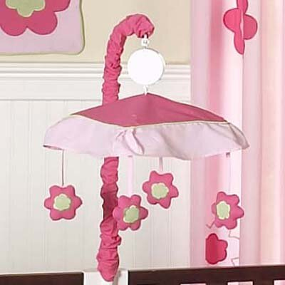 Sweet Jojo Designs Flower Pink and Green Collection Musical Mobile