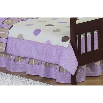 Sweet Jojo Designs Mod Dots Purple Collection Toddler Bed Skirt