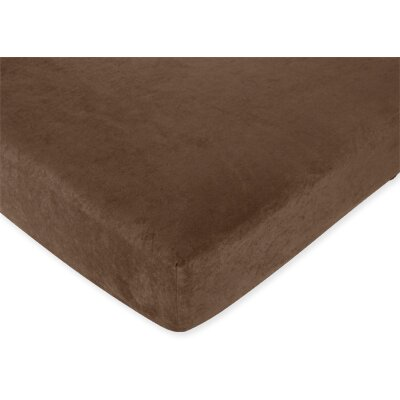 Teddy Bear Chocolate Fitted Crib Sheet