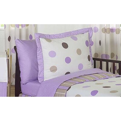 Sweet Jojo Designs Mod Dots Purple Collection Standard Pillow Sham