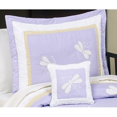 Sweet Jojo Designs Purple Dragonfly Dreams Standard Pillow Sham