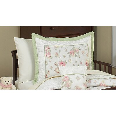 Sweet Jojo Designs Riley's Roses Collection Standard Pillow Sham