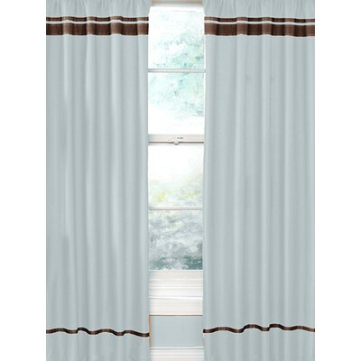 Sweet Jojo Designs Hotel Cotton Rod Pocket Curtain Panel Pair