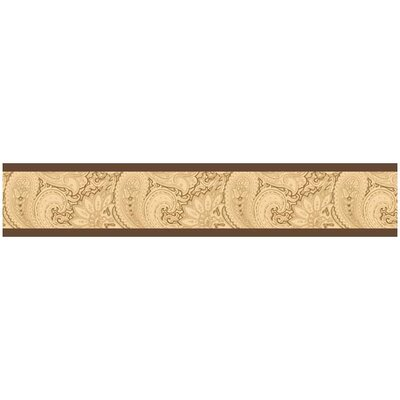 Camel Paisley Collection Wall Paper Border