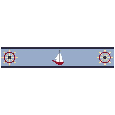 Sweet Jojo Designs Come Sail Away Collection Wall Paper Border