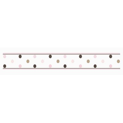 Mod Dots Pink Collection Wall Paper Border