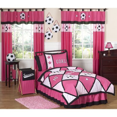 Sweet Jojo Designs Soccer Pink Kid Bedding Collection