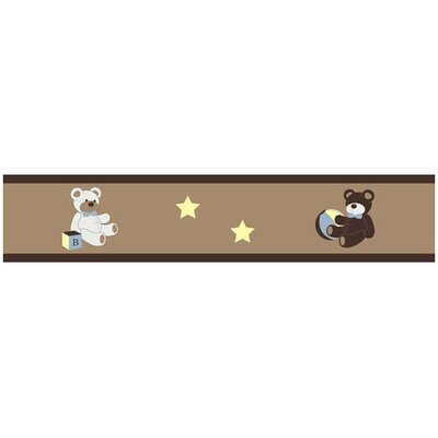 Teddy Bear Chocolate Collection Wall Paper Border