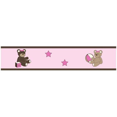 Teddy Bear Pink Collection Wall Paper Border