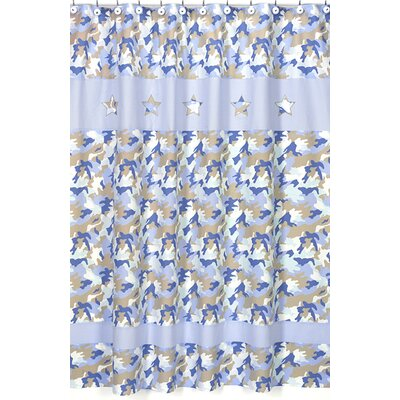 Sweet Jojo Designs Camo Blue Collection Shower Curtain