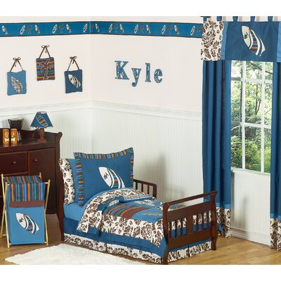 Sweet Jojo Designs Surf Blue and Brown Toddler Bedding Collection