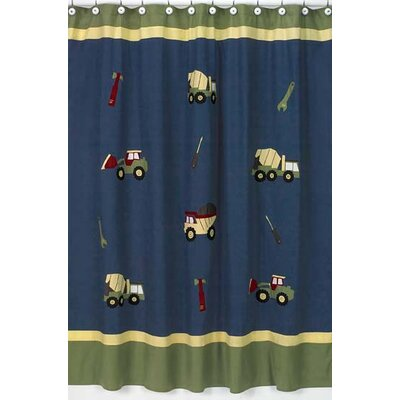 Sweet Jojo Designs Construction Collection Shower Curtain