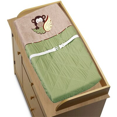 Sweet Jojo Designs Monkey Collection Changing Pad Cover