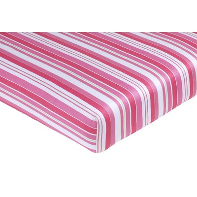 Sweet Jojo Designs Olivia Collection Fitted Crib Sheet  - Stripe Print