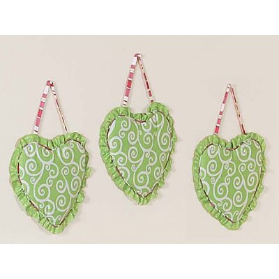 Sweet Jojo Designs Olivia Collection Wall Hangings (Set of 3)