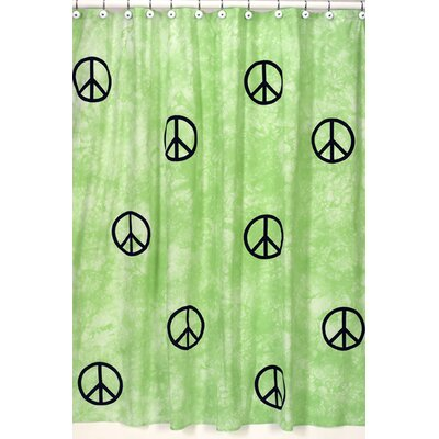 Sweet Jojo Designs Peace Green Collection Shower Curtain | Wayfair