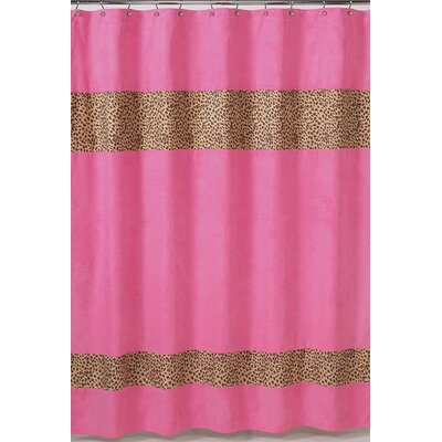 Sweet Jojo Designs Cheetah Microsuede Shower Curtain