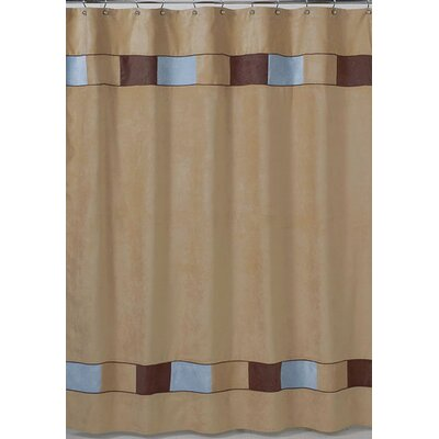 Sweet Jojo Designs Beige Soho Microsuede Shower Curtain | Wayfair