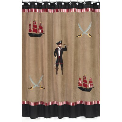 Sweet Jojo Designs Pirate Treasure Cove Microsuede Shower Curtain