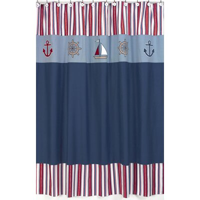 Jojo designs nautical nights cotton and microsuede shower curtain