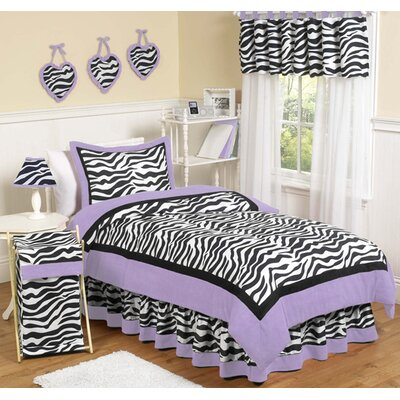 Sweet Jojo Designs Purple Funky Zebra 3 Piece Full / Queen Bedding Set