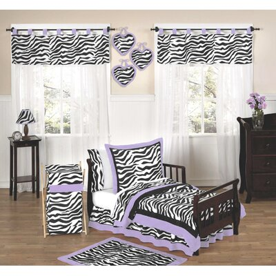 Sweet Jojo Designs Zebra Purple Collection 5pc Toddler Bedding Set