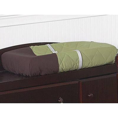 Sweet Jojo Designs Hotel Green and Brown Collection Changing Pad Cover