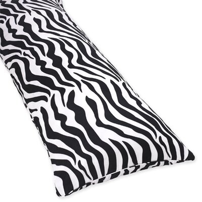 Sweet Jojo Designs Zebra Turquoise Collection Body Pillow Case