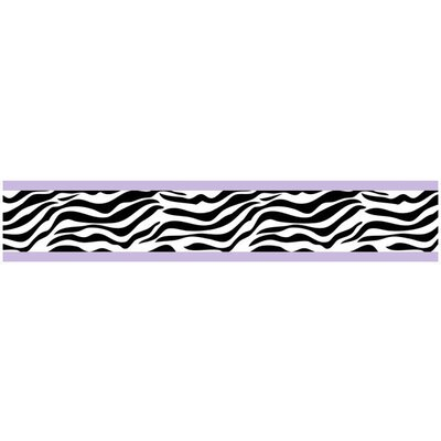 Sweet Jojo Designs Zebra Purple Collection Wall Paper Border