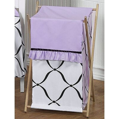 Sweet Jojo Designs Princess Black, White and Purple Laundry Hamper