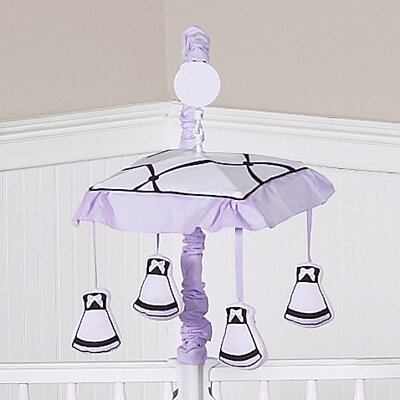 Sweet Jojo Designs Princess Black, White and Purple Collection Musical Mobile