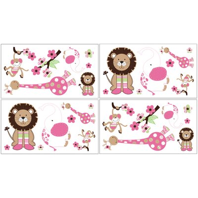 Sweet Jojo Designs Jungle Friends Wall Decal 4 piece set