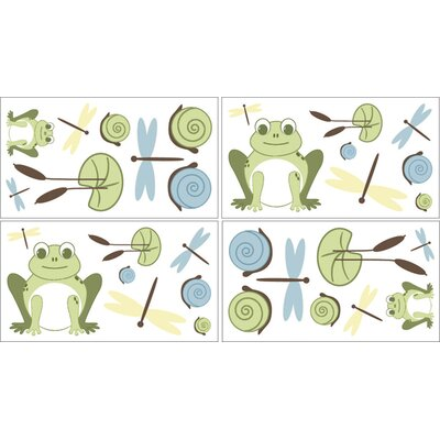 Sweet Jojo Designs Leap Frog Collection Wall Decal Stickers