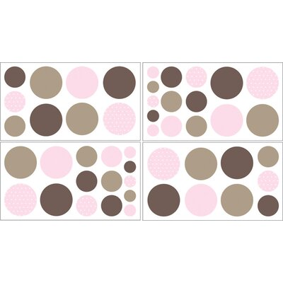 Sweet Jojo Designs Mod Dots Pink Collection Wall Decal Stickers