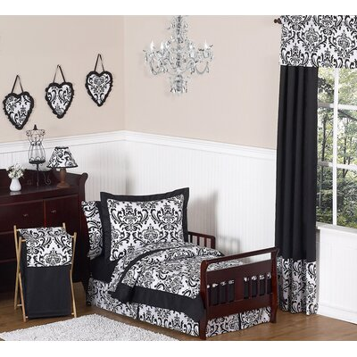 Isabella Black and White Collection 5pc Toddler Bedding Set
