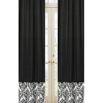 Sweet Jojo Designs Isabella Hot Pink, Black and White Curtain Panel