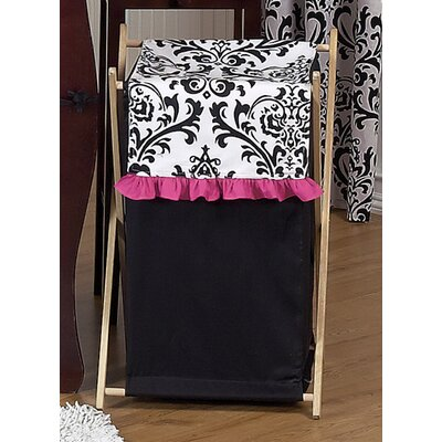 Sweet Jojo Designs Isabella Hot Pink, Black and White Collection Laundry Hamper